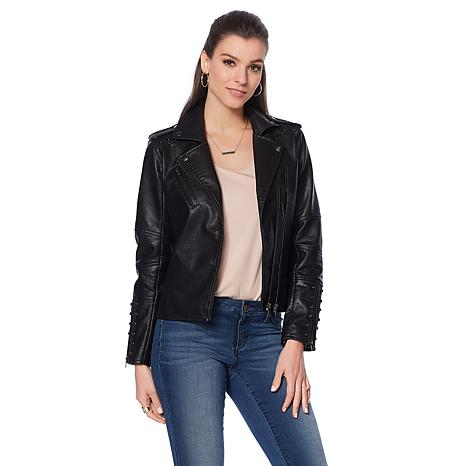 Colleen Lopez Effortlessly Edgy Faux Leather Jacket