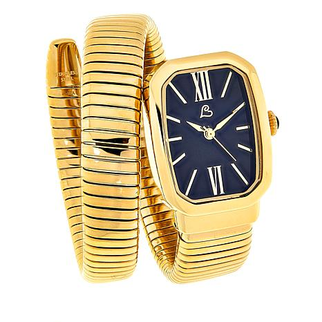 Colleen Lopez Gemstone Dial Coil Bracelet Watch