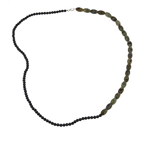 "Colleen Lopez Labradorite and Black Spinel 36"" Necklace"