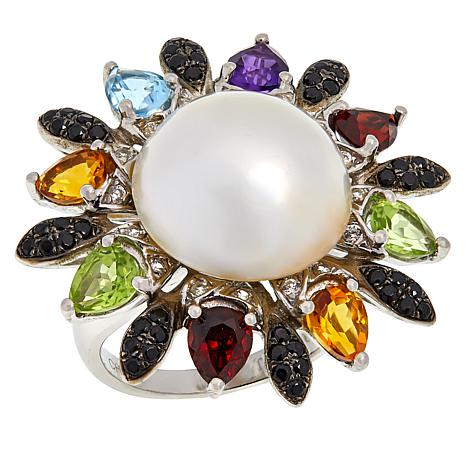 Colleen Lopez Mabé Pearl and Multi-Gemstone Ring