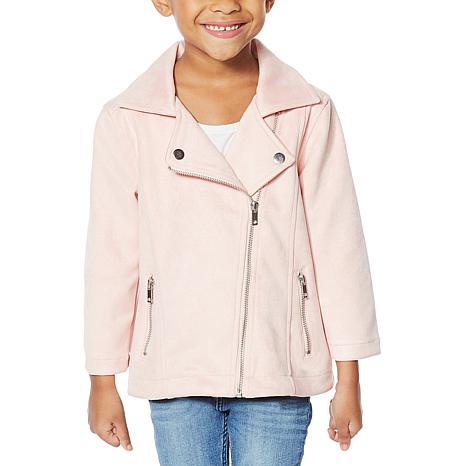 """Colleen Lopez """"Mini and Me"""" Faux Suede Moto Toddler Jacket"""