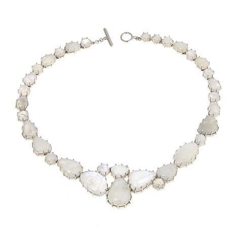 "Colleen Lopez Rainbow Moonstone Cluster 19"" Necklace"