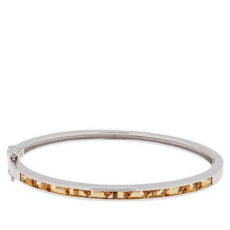 Colleen Lopez Sterling Silver Gemstone Bangle