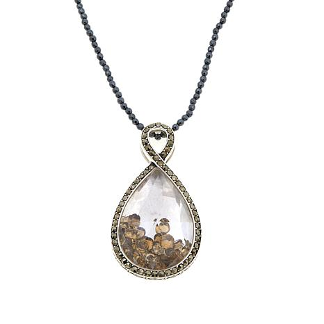 Colleen Lopez Whiskey Quartz Shaker Pendant