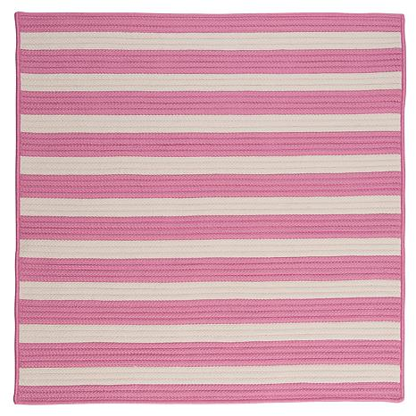 Colonial Mills Stripe It 8' Square Rug - Bold Pink