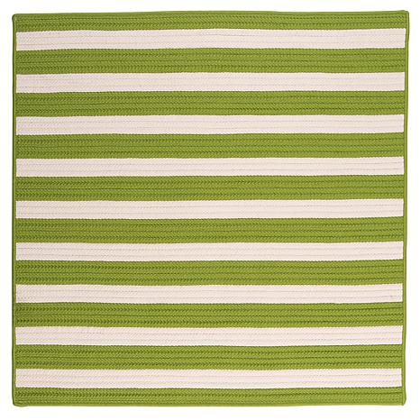 Colonial Mills Stripe It 8' Square Rug - Bright Lime