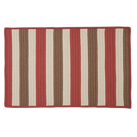 Colonial Mills Stripe It 8' x 11' Rug - Terracotta