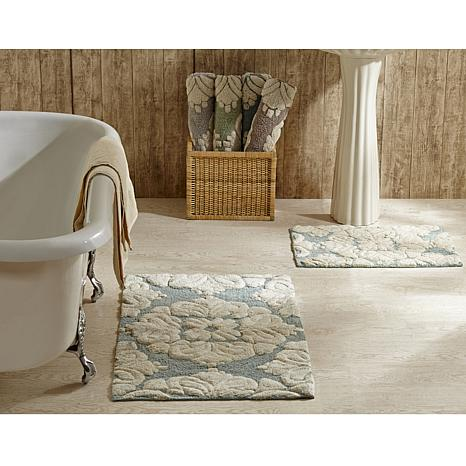... Concierge Collection Medallion 2 Piece Bath Rug Set ...