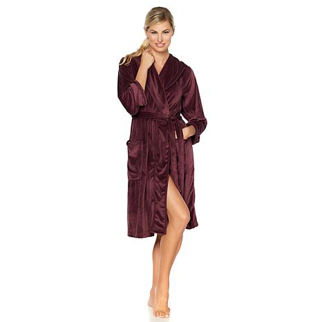 Concierge Collection Platinum Velour Hooded Robe
