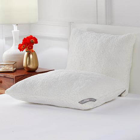 Concierge Collection Sherpa Jumbo 2-pack Pillows