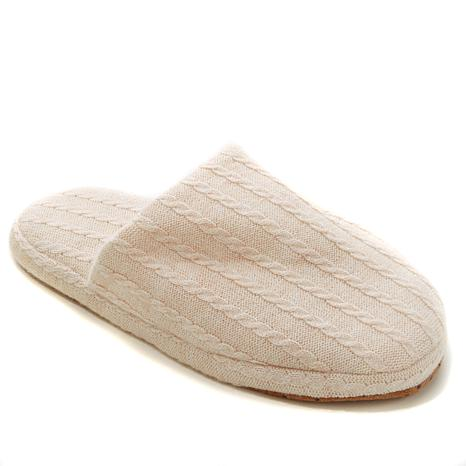 Concierge Platinum Cashmere and Cotton Slippers