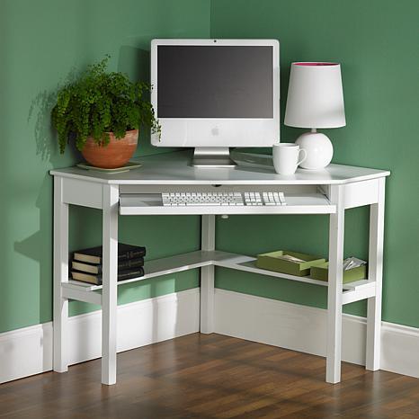 corner computer desk white 6221913 hsn rh hsn com Small Corner Computer Desks Cheap cheap corner computer desk with hutch