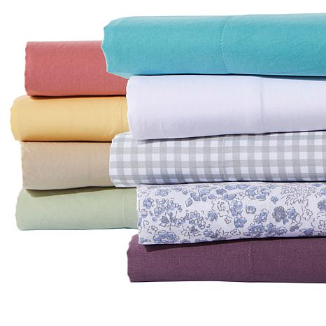 Country Living Home Collection Vintage Washed 4 Piece Sheet Set 9382306 Hsn