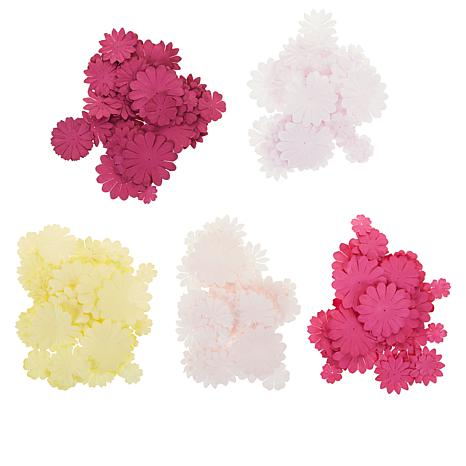 Craft Factory Creations Layerable Brights & Pastel Paper Flowers