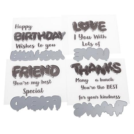 Crafter's Companion Balloon Sentiments Stamp and Die Set