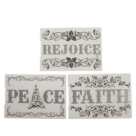 Crafter's Companion Christmas Words of Faith Cut and Embossing Folders