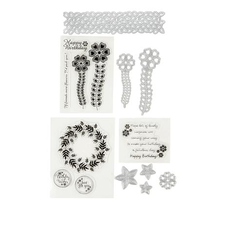 Crafter's Companion Flower Wreath and Stems Stamp and Die Set by Chloe