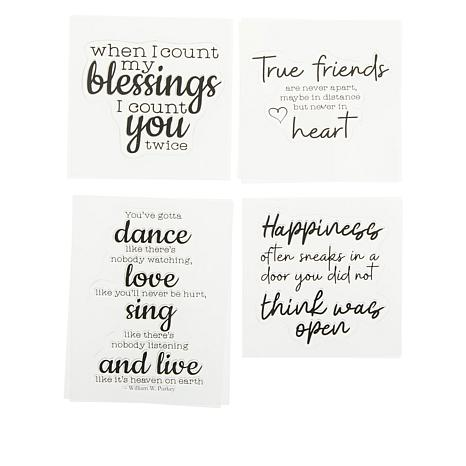 Crafter's Companion Friendship Inspirational Sayings Stamps