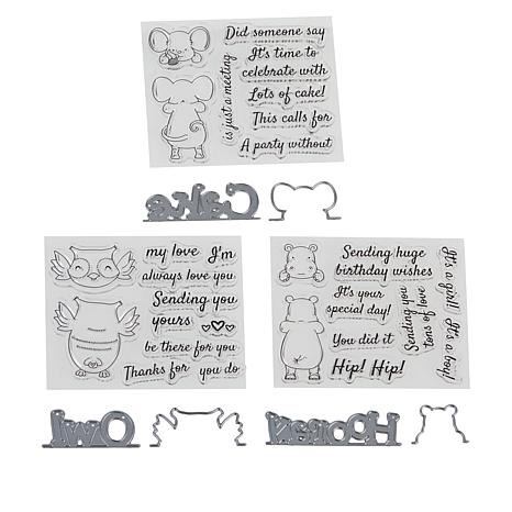 Crafter's Companion Gemini Animal Peek-a-Boo Stamp and Die Set