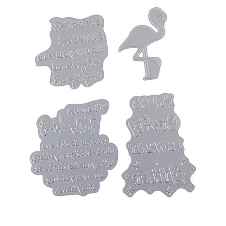 Crafter's Companion Gemini Everyday Quirky Sentiments Foil Stamp Dies
