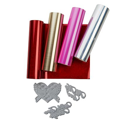 Crafter's Companion Love Foil Stamp Die and Paper Bundle