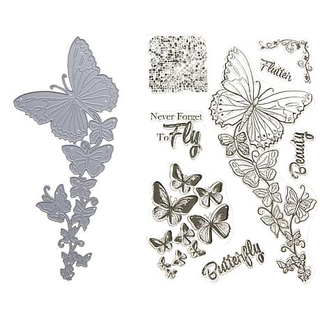Crafter's Companion Sheena Butterfly Beauty Stamp and Die Set