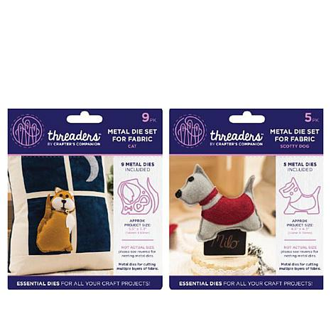 Crafter's Companion Threaders Metal Die Set - Cat and Dog