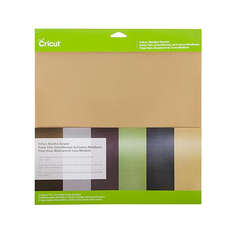 Cricut Vellum Paper Sampler 12-pack Metallic