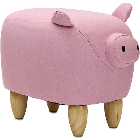 "Critter Sitters 15"" Plush Animal Ottoman - Pig"