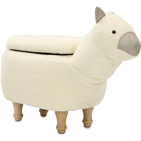 "Critter Sitters 15"" Plush Animal Storage Ottoman - Llama"