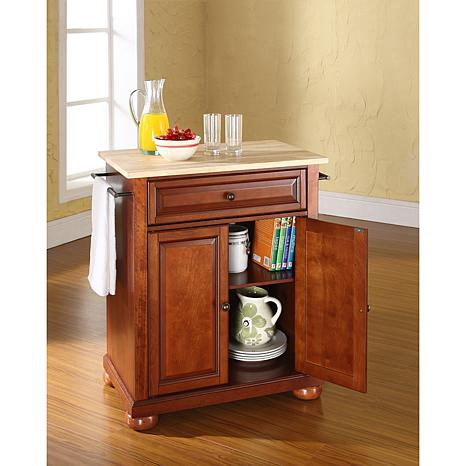 small portable kitchen islands crosley alexandria wood top portable kitchen 5541