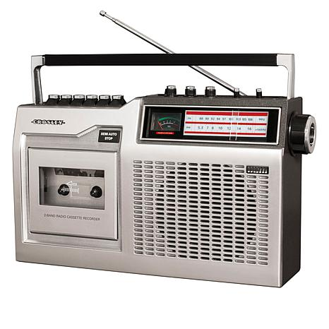 Crosley CT200 Cassette Player with AM-FM Radio, Recorder & Microphone