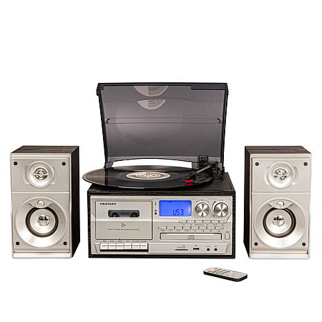 Crosley Eclipse Turntable with Cassette Player, Radio & Speakers
