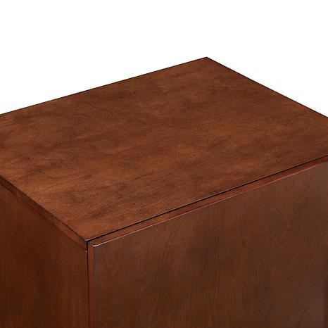 Crosley Furniture Everett Record Player Stand   Mahogany   8480705 | HSN