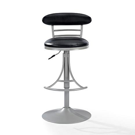 Crosley Furniture Jasper Swivel Counter Stool - Platinum/Black Cushion