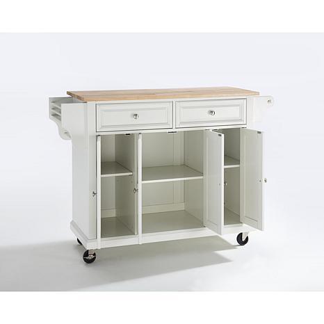 ... Crosley Natural Wood Top Kitchen Cart ...