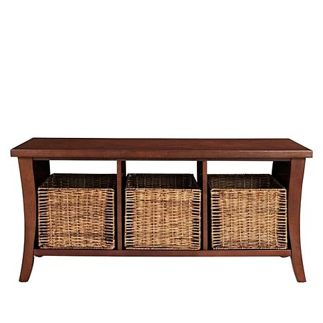 Crosley Wallis Entryway Bench With Baskets   8866351   HSN