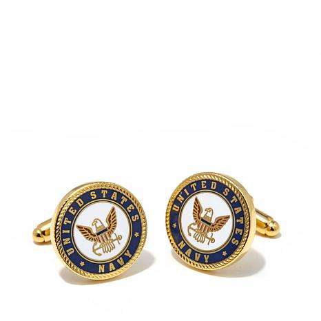 Cufflinks, Inc. Men's  U.S. Navy Seal Enamel Cuff Links
