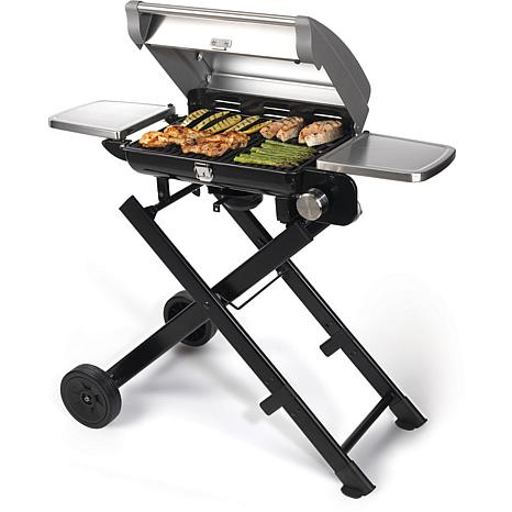 cuisinart all foods roll away portable gas grill 7246409 hsn. Black Bedroom Furniture Sets. Home Design Ideas