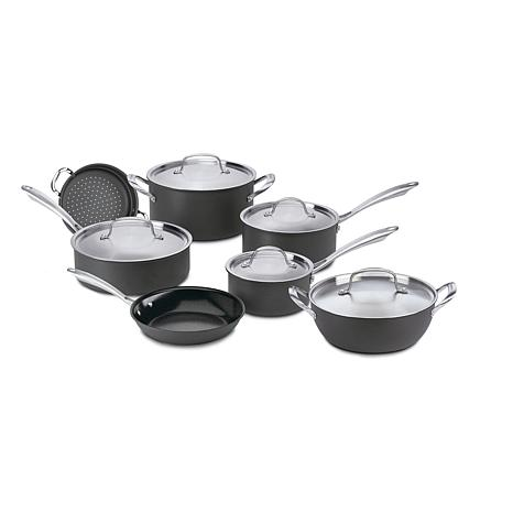 Cuisinart GG-12 GreenGourmet Hard Anodized Non-stick 12-Piece Cookw...