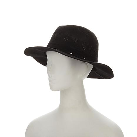 Curations Caravan Panama Hat with Faux Suede Strap
