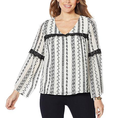 Curations Lace-Embroidered Blouse