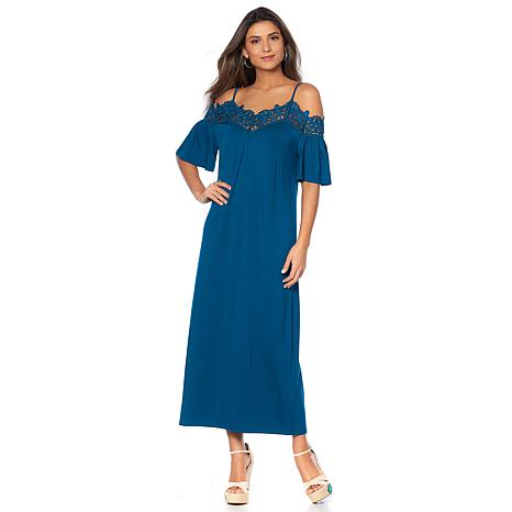 Curations Off-the-Shoulder Maxi Dress