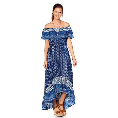 Curations Printed Woven Overlay Dress