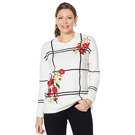 Curations Windowpane Sweater