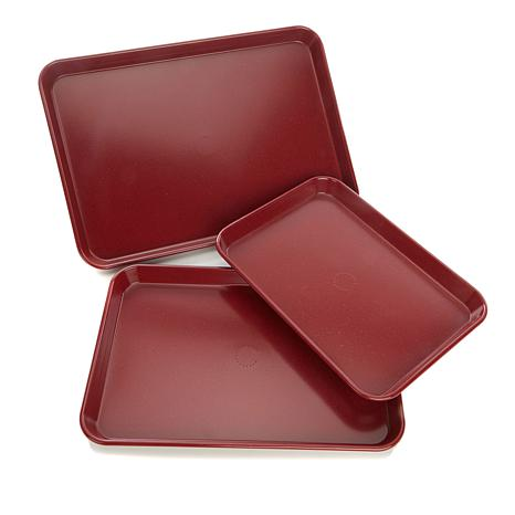 curtis stone dura bake nonstick 3 piece sheet pan set 8830947 hsn