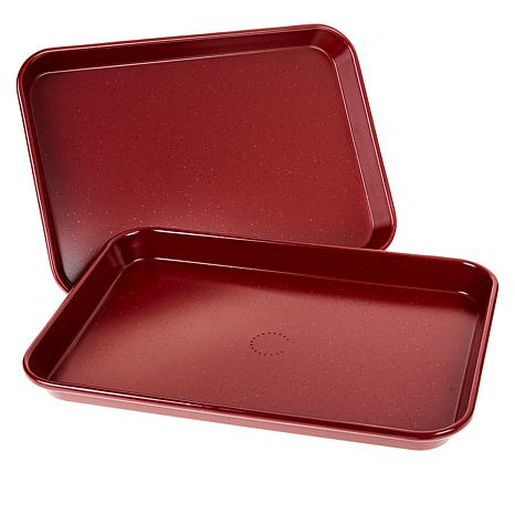 "Curtis Stone Dura-Bake® Set of 2 9"" x 13"" Nonstick Sheet Pans"