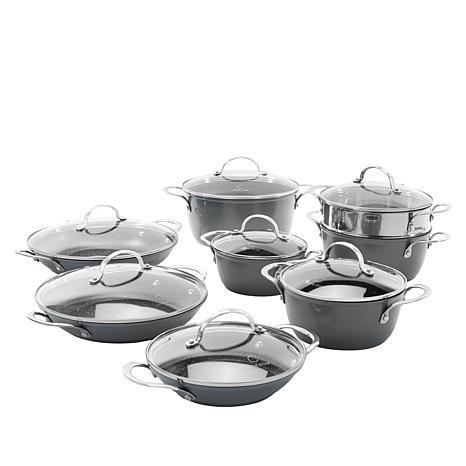 Curtis Stone Dura-Pan Nonstick 15-piece Nesting Cookware Set
