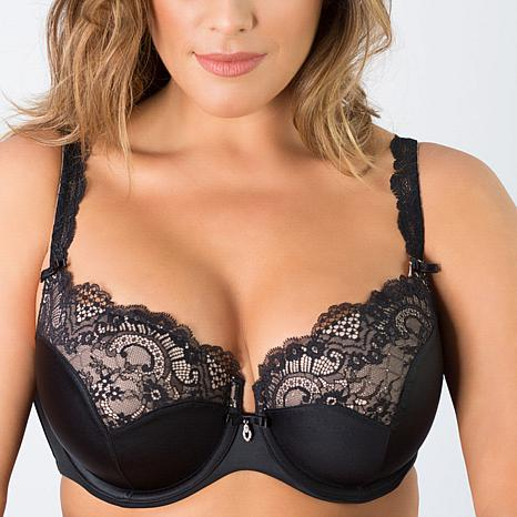 Curvy Couture Tulip Lace Underwire Push-Up Bra