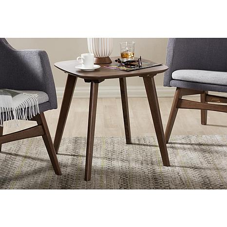 Dahlia Walnut Wood End Table